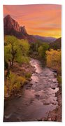 Zion National Park The Watchman Beach Towel