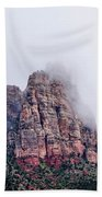 Zion Red Rock And Clouds Beach Towel