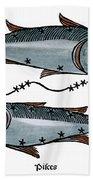 Zodiac: Pisces, 1482 Beach Towel