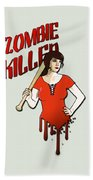 Zombie Killer Beach Towel by Nicklas Gustafsson
