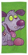 Zombie Puppy Beach Towel by John Schwegel