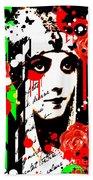 Zombie Queen Roses Beach Towel