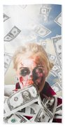 Zombie With Crazy Money. Filthy Rich Millionaire Beach Towel