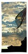 Zurich Griffin Flag At Sunset Beach Towel