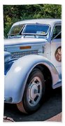 1938 Diamond T Stakebed Truck Beach Towel