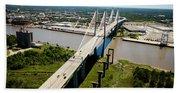 Aerial View Of Talmadge Bridge Beach Sheet