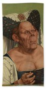An Old Woman  The Ugly Duchess   Beach Towel