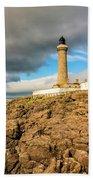 Ardnamurchan Point Lighthouse In Portrait Format. Beach Towel