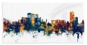 Athens Greece Skyline Beach Sheet