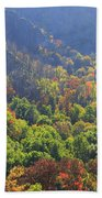 Autumn Color On Newfound Gap Road In Smoky Mountains National Park Beach Sheet
