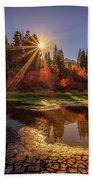 Autumn Sun Beach Sheet