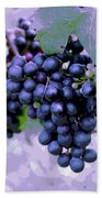 Blue Grape Bunches 7 Beach Towel
