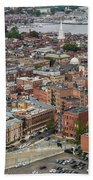 Boston Government Center, North End And Harbor Beach Towel