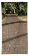 Brick Road In Palatka Florida Beach Towel