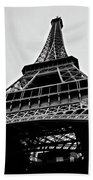 Close Up View Of The Eiffel Tower From Underneath  Beach Towel