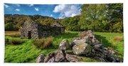Cottage Ruin Snowdonia Beach Sheet