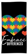 1 Embrace Differences Beach Towel