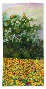 Golden Hillside Beach Towel