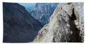 Grey Mountains Beach Towel
