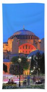 Hagia Sophia At Night Istanbul Turkey  Beach Towel