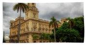 Havana's Palacio Del Centro Asturiano Beach Towel