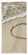 I Love The Beach Beach Sheet