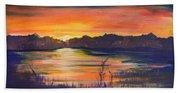 Lake Sunset  Beach Towel