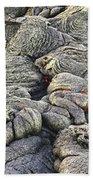 Lava Peeking At Us Beach Towel by Jim Thompson