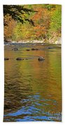 Little River In Autumn In Smoky Mountains National Park Beach Towel