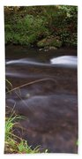 Long Exposure Photographs Of Rolling River With Fall Foliage Beach Towel