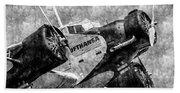 Lufthansa Junkers Ju 52 Vintage Beach Sheet