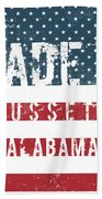 Made In Cusseta, Alabama Beach Towel