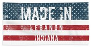 Made In Lebanon, Indiana Beach Towel