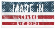 Made In Lebanon, New Jersey Beach Towel