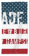 Made In Newbury, New Hampshire Beach Towel