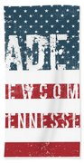 Made In Newcomb, Tennessee Beach Towel