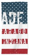 Made In Paragon, Indiana Beach Towel