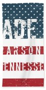 Made In Parsons, Tennessee Beach Towel