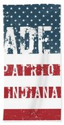 Made In Patriot, Indiana Beach Towel