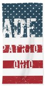 Made In Patriot, Ohio Beach Towel