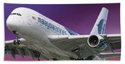 Malaysia Airlines Airbus A380-841 Beach Towel
