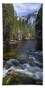 Merced River, Yosemite National Park Beach Towel