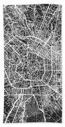 Milan Italy City Map Beach Sheet