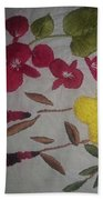 Moms Hand Embroidery Beach Towel