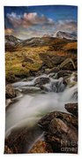 Mountains North Wales Beach Towel