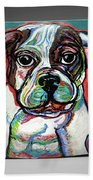 Neon Bulldog Beach Towel