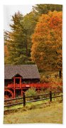 Old Crawford Farm Grist Mill Beach Towel by Jeff Folger