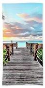 1 Paradise Pier Beach Towel