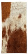 Pattern Of A Longhorn Bull Cowhide. Beach Towel by Rob D Imagery
