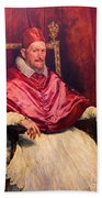 Pope Innocent X Beach Towel